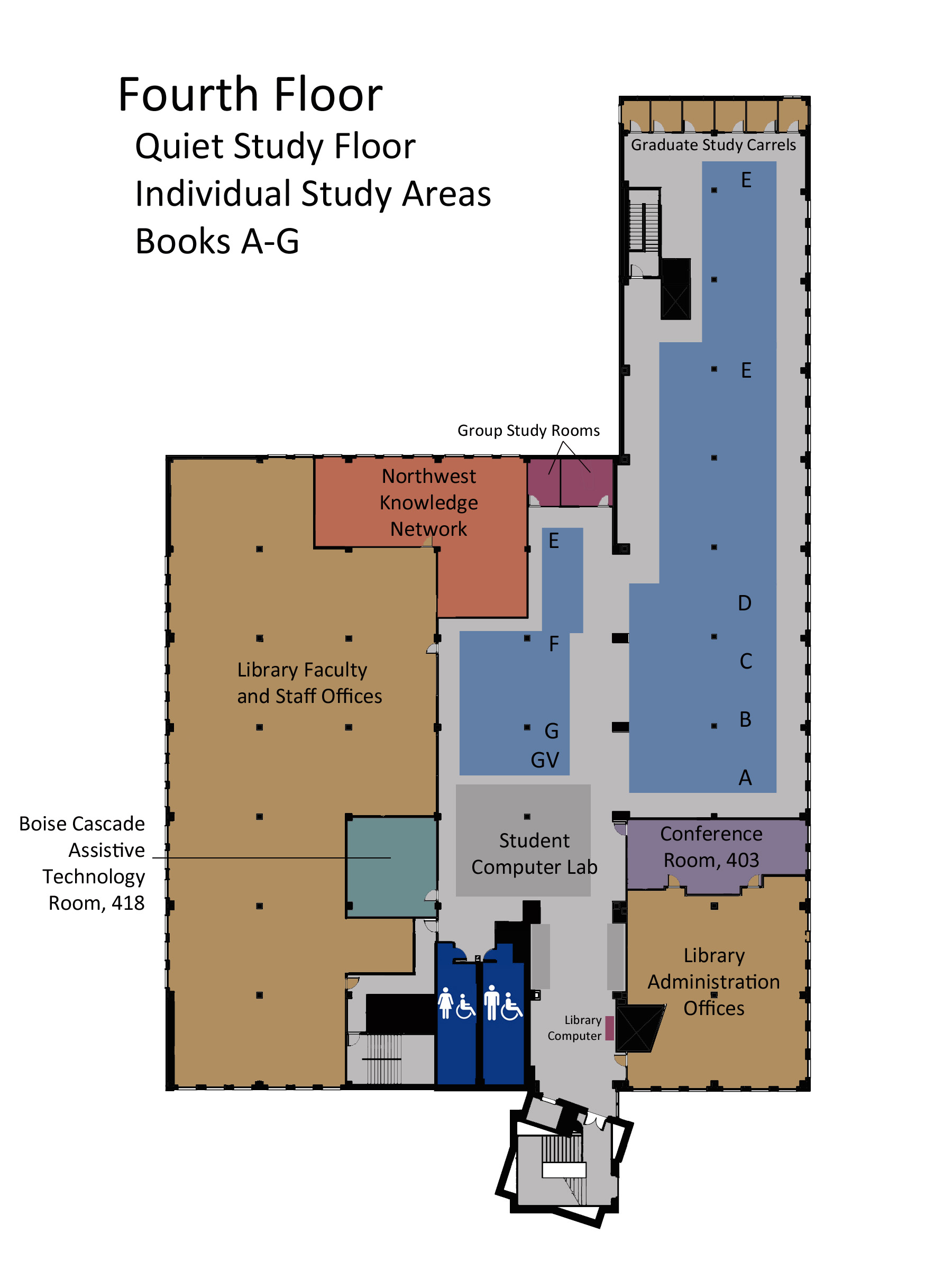 fourth floor map