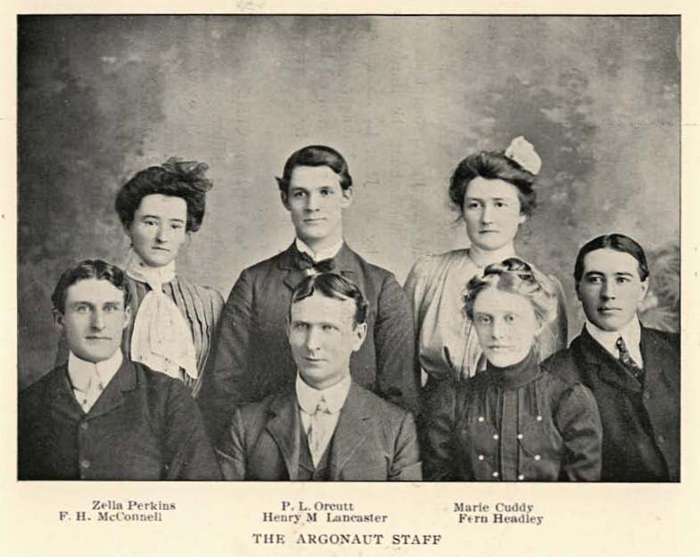 historic image of Argonaut staff from 1903