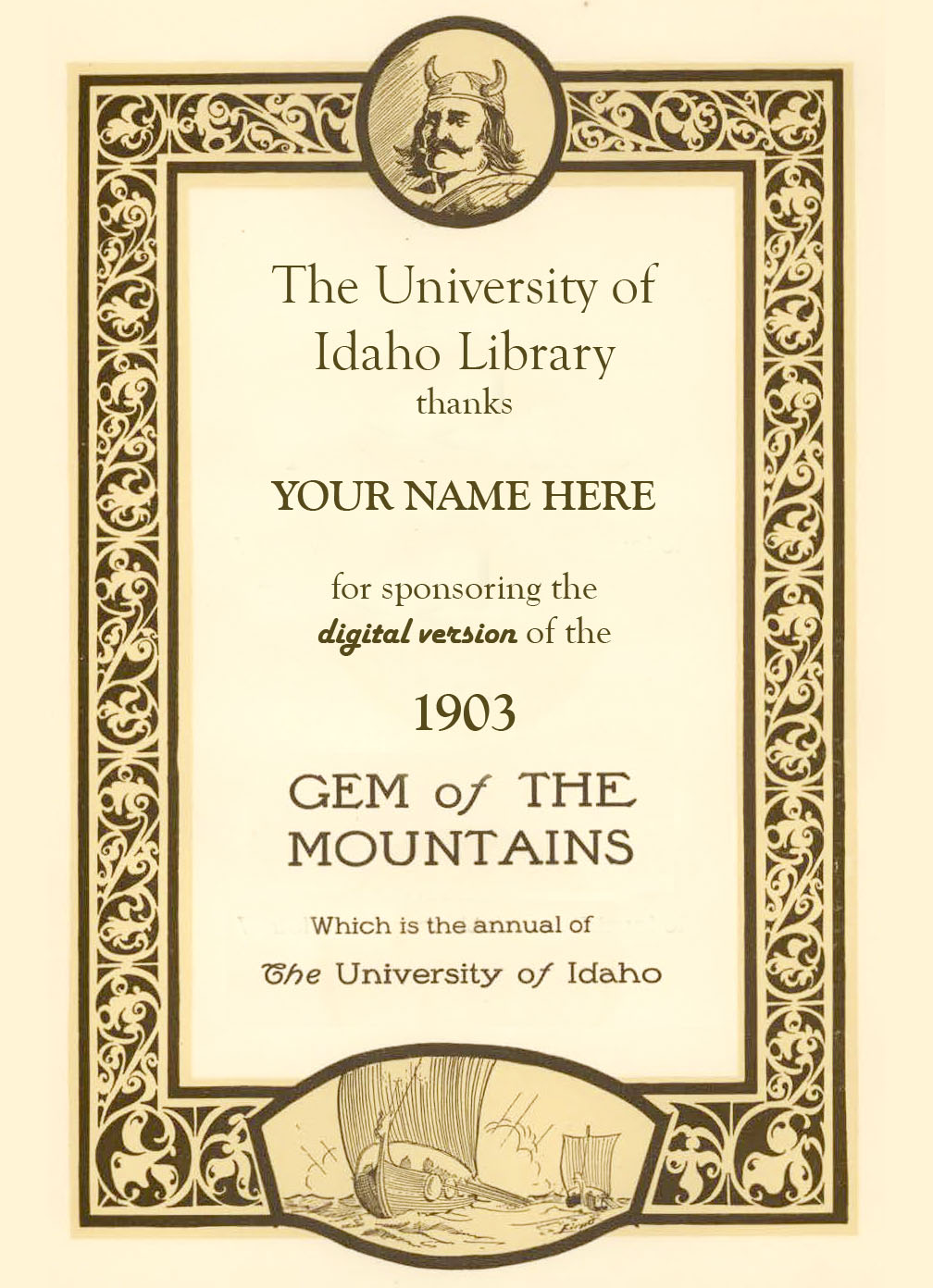 Support Page - Gem of the Mountains Yearbook Digital Collection