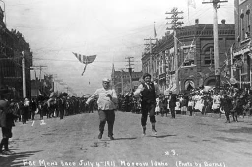 Fat Men's Race. Moscow, July 4, 1911.