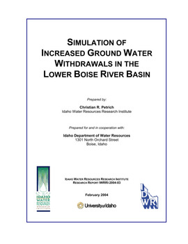 item thumbnail for Simulation of increased ground water withdrawals in the lower Boise River basin