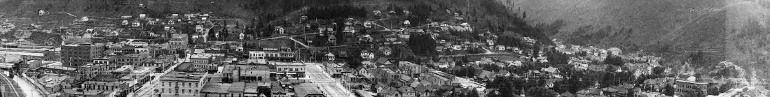 Panorama of Wallace, Idaho from the Barnard-Stockbridge Collectio
