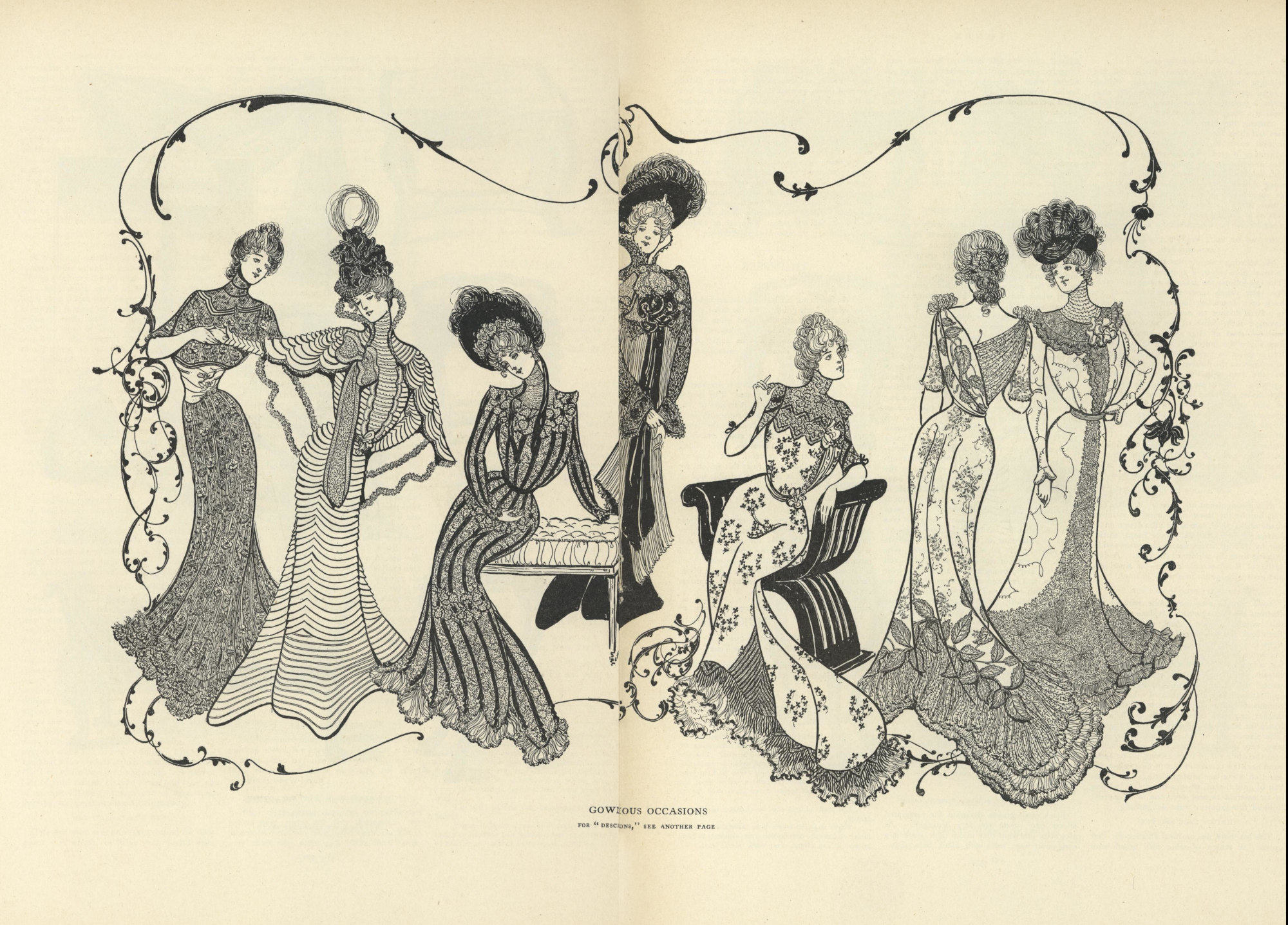 fancy gowns from Vogue 1899
