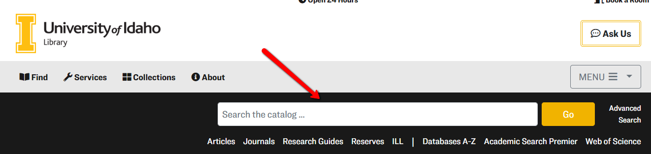 catalog search box