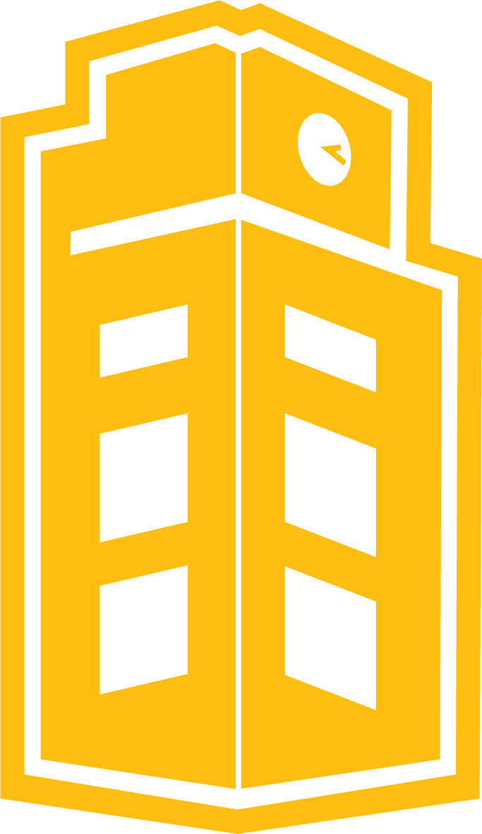 Gold U of I Library Tower logo
