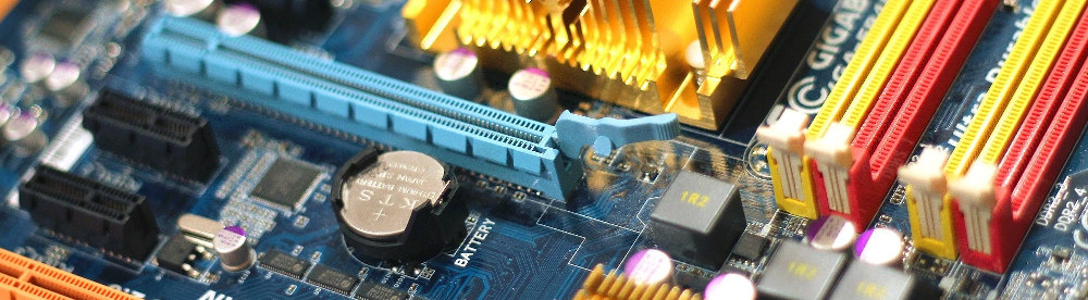 image of circuit board with computer chip