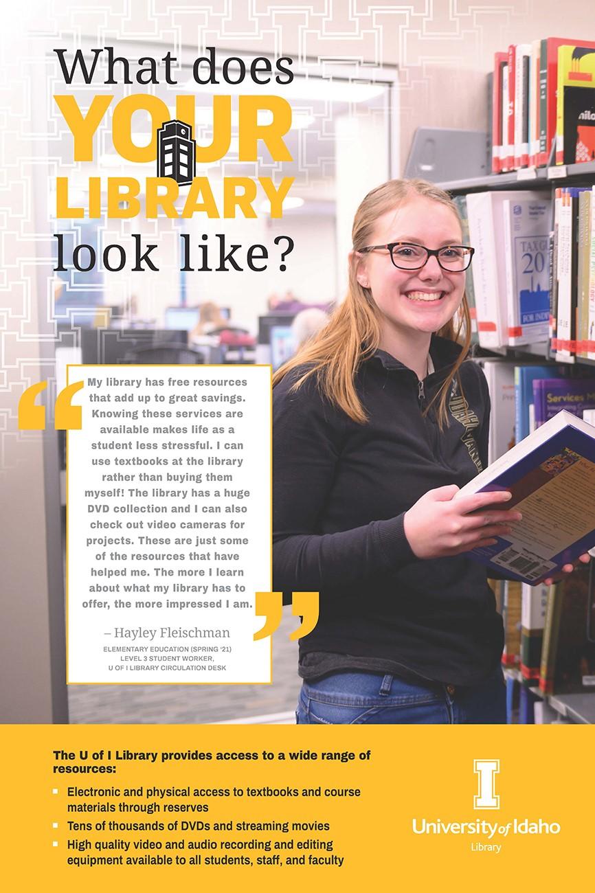 Hayley Fleischman My Library Poster