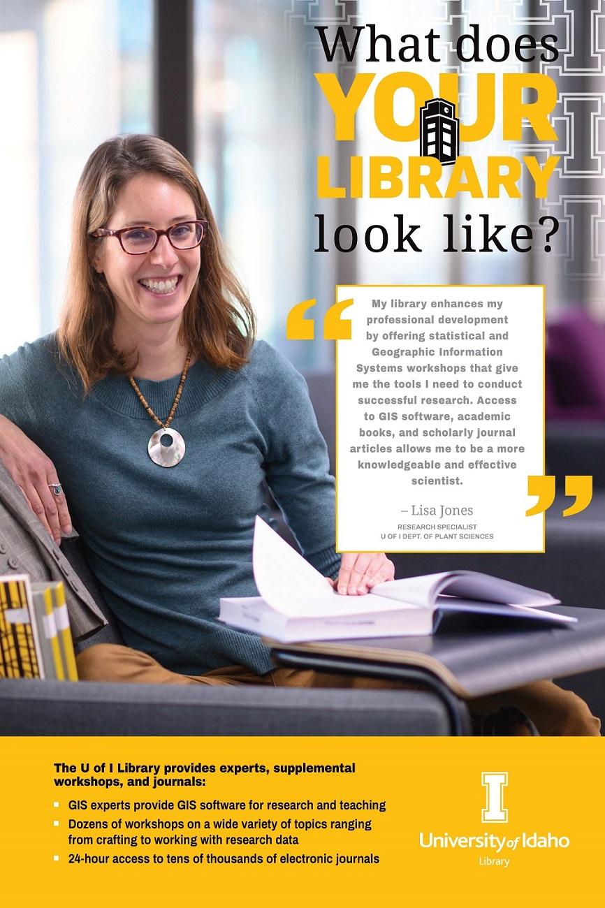 Lisa Jones My Library Poster