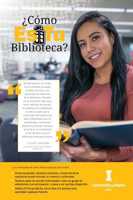 Giselle Andrade My Library Poster