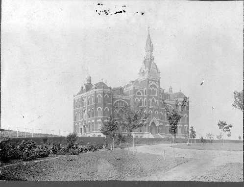 Administration Building before fire, 1898