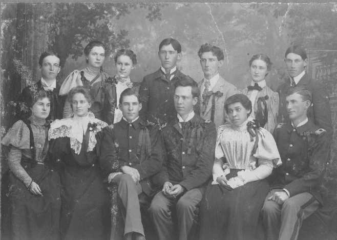 Photo: Group picture of class of 1899. 1897.