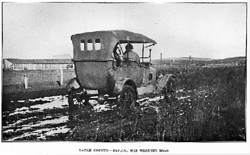 Image: 'Latah County -- Typical wet weather road.' Idaho Department of Public Works. Biennial Report for the period ending December 31st, 1920