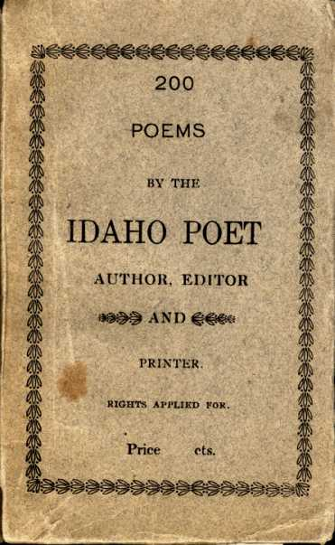 Cover: 200 Poems by the Idaho Poet (1921).